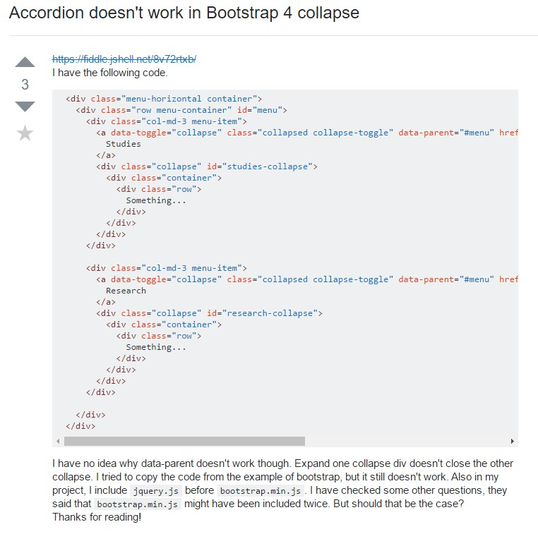 Bootstrap collapse  complication