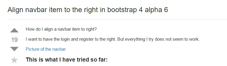 Align navbar item to the right  inside Bootstrap 4 alpha 6