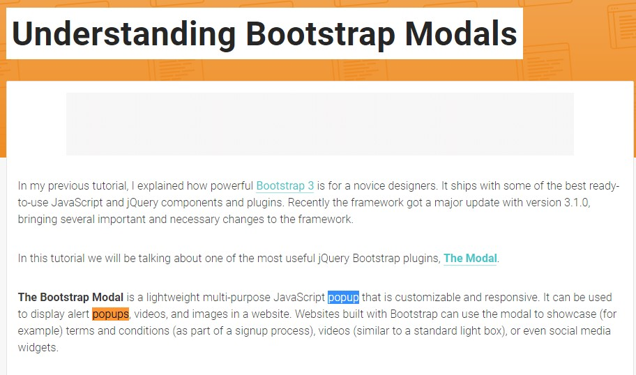 One more  helpful  content  concerning Bootstrap Modal Popup