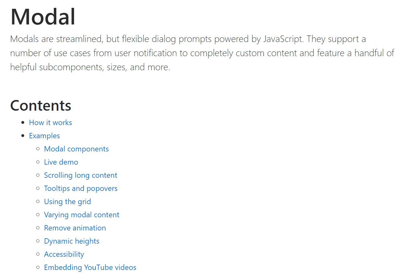 Bootstrap Modal Popup: official  records