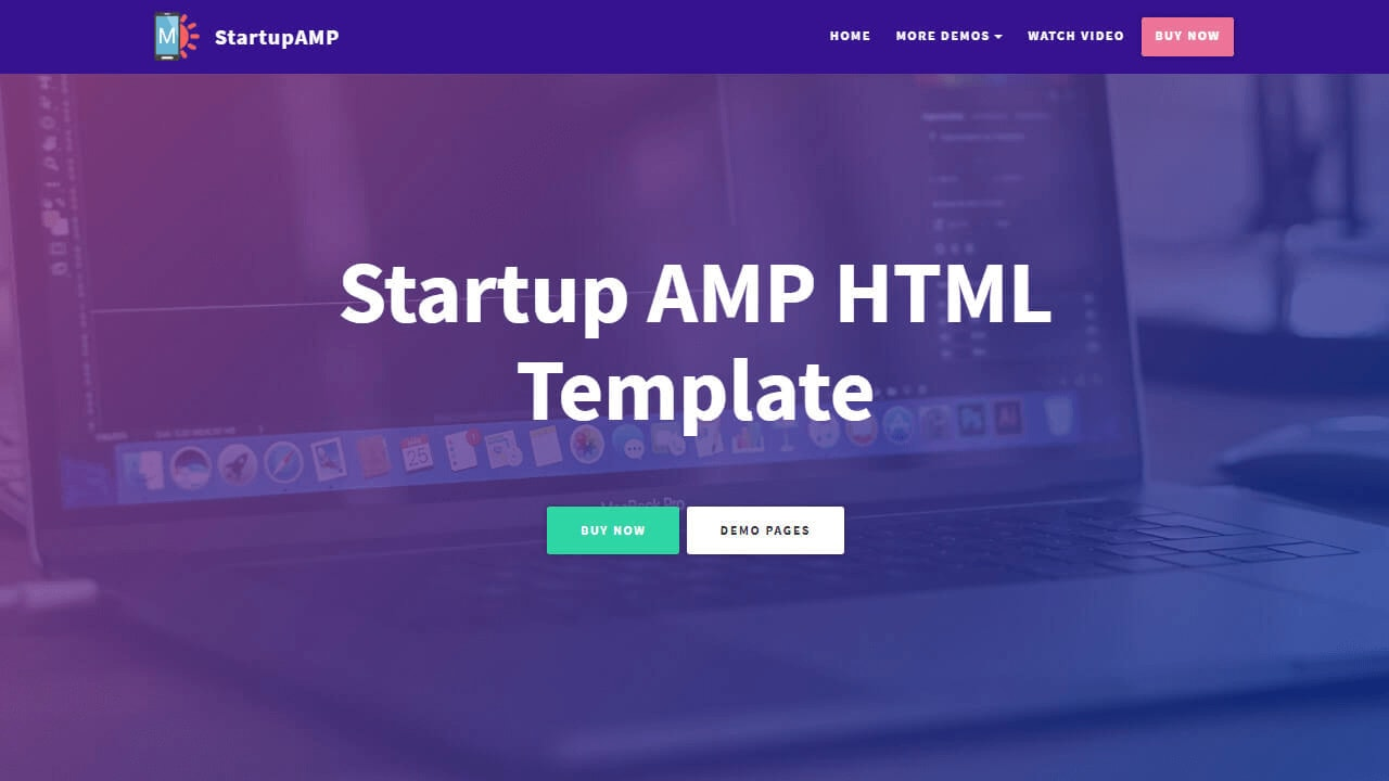Startup AMP HTML Template