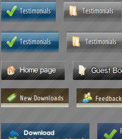 Buttons Icons For XP Look Menu Javascript Css Images Dropdown Toggle