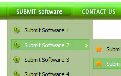 java collapsing menu HTML Colored Radio Buttons