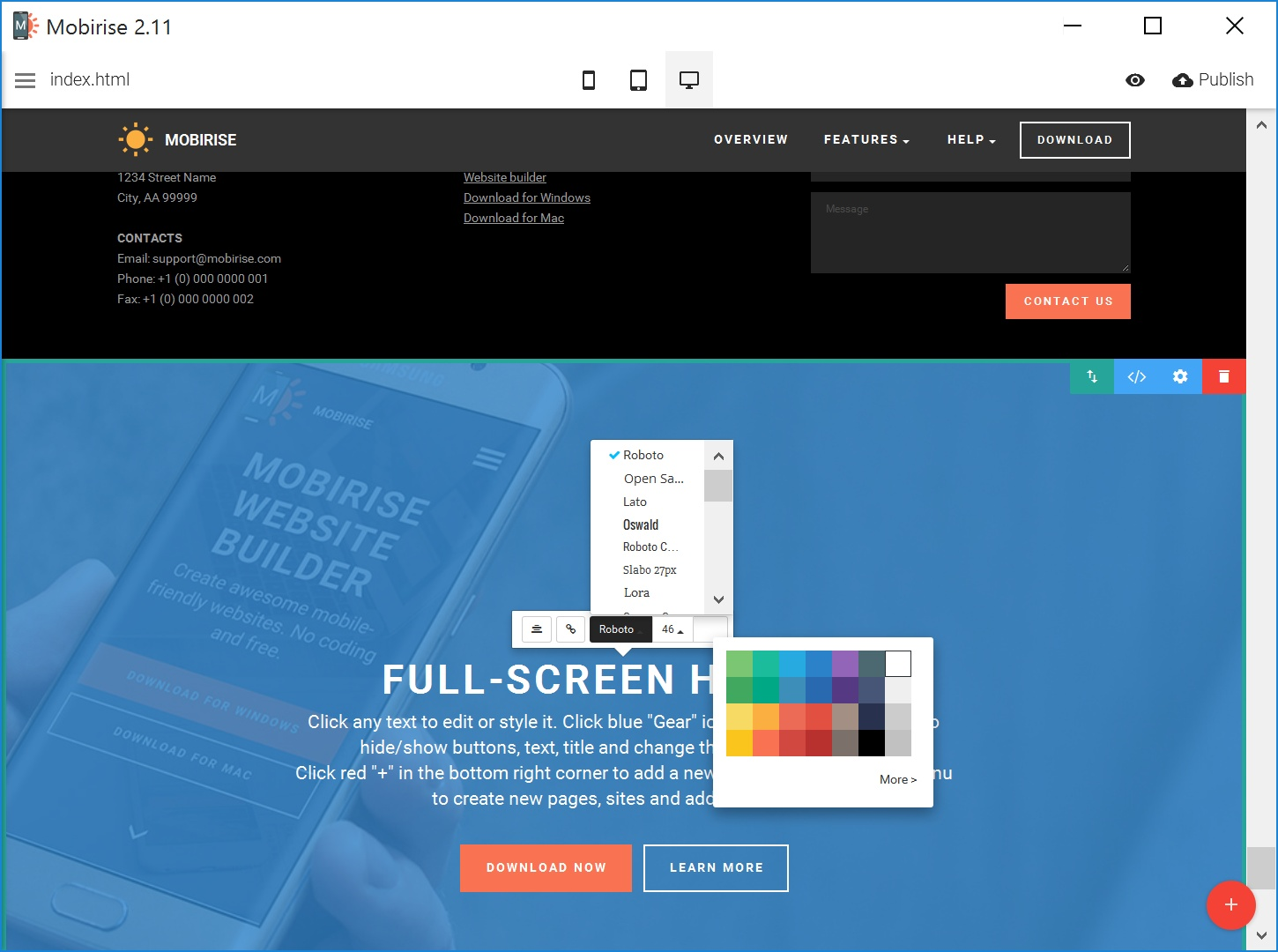 Free Bootstrap Web Page  Creator