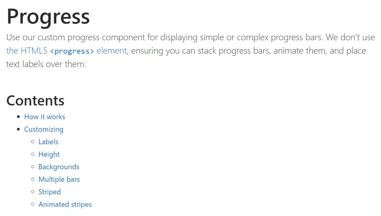 Bootstrap progress bar  formal  records