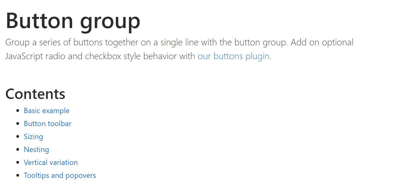 Bootstrap button group  authoritative  information