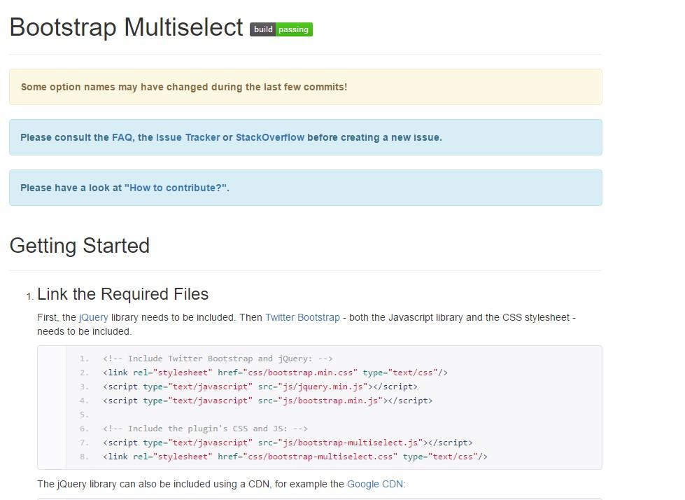 Bootstrap multiple select  short training
