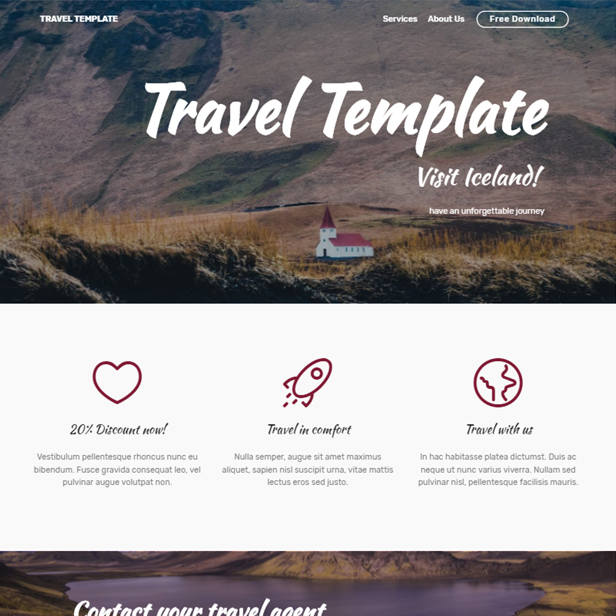 Responsive Bootstrap Travel Templates