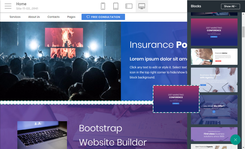 Bootstrap Template Maker